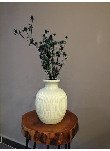 Kuru Çiçek Deposu Boga Dikeni (Eryngium) , Yeşil Kuru Çiçek Demet Yeşil